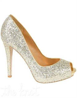 Silver or gold platform features metallic lattice overlay. Sizes 5.5-10
