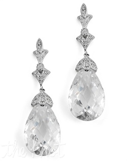Rhodium-plated earrings feature cubic zirconia and Swarovski crystals.