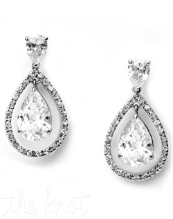 Earrings feature cubic zirconias.