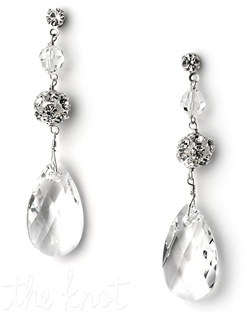Earrings feature rhinestones and Swarovski crystals.