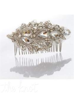 Fabric comb features Swarovski crystals.