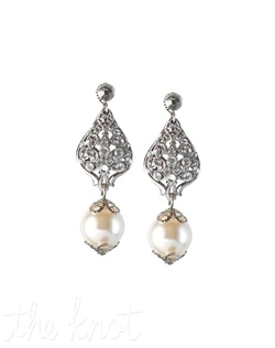 Drop earrings feature Swarovski crystals, pearls and sterling silver posts.