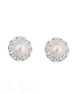 From The New Classics Collection, these sterling silver earrings feature 6mm freshwater pearls and white topaz.