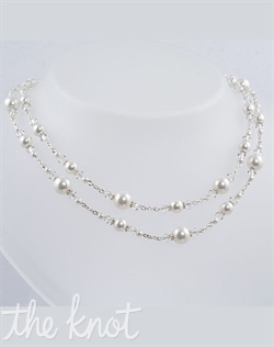 Sterling silver or 14k gold filled necklace features Swarovski crystals and pearls. Various colors available. Adjustable