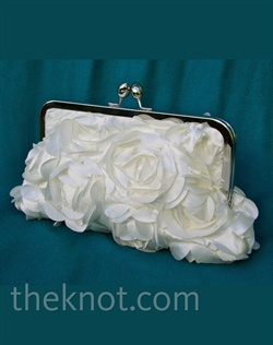 "Satin clutch features metal frame and satin lining. Various colors available. 8"" and 10"" available."
