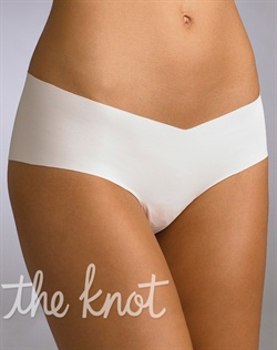 Panty features low rise and construction without elastic or trim. Available in black, tonight white, light nude, brown, dark nude or true nude. Available in sizes S/M and M/L.