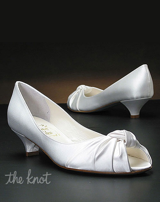 Low heel wedding shoes by my glass slipper