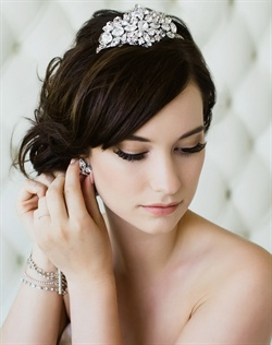 Tiara features Swarovski rhinestones.