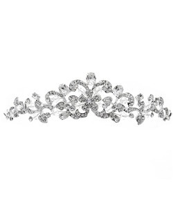 Features a floral design sparkling rhinestones.