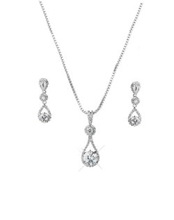 Features a unique design of floating cubic zirconia.