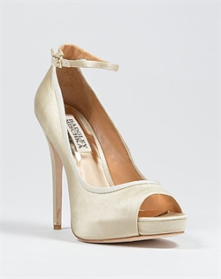 Ivory platform wedding shoe