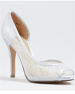 Sheer lace wedding shoe by Brianna Leigh