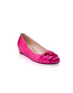 "Shown here in Hot Pink silk with a 1"" mini wedge."