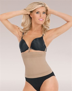 Loop and Strap system holds shaper in place while attaching to your bra. Slims tummy, back, hips, and thighs. Shapes and lifts bottom. Thigh band lies flat without rolling. Targeted compression for defined shape. Seamless and breathable microfiber that wicks moisture away from the body. Cotton lined convertible gusset for convenience and comfort. Care: Machine wash delicate with like colors, hang to dry. Do not bleach, iron or dry clean.