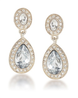 The Catherine Crystal Drop Pierced Earrings