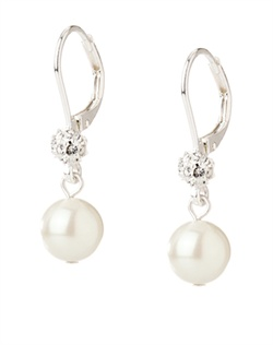 The Mackenzie Crystal and Pearl Linear Drop Earrings