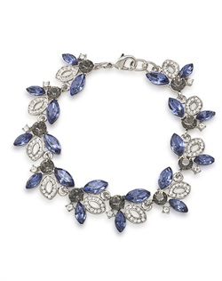 The Penelope Blue Crystal Spray Bracelet