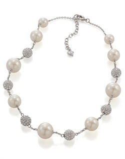 The Delilah Crystal and Pearl Illusion Necklace