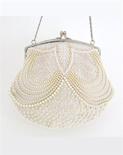 Beaded Pearl Bridal Purse