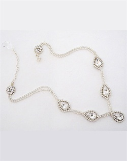 Erin Cole Multi Teardrop Crystal Necklace