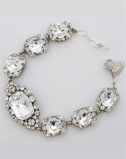 Haute Bride Crystal Brooch Bracelet
