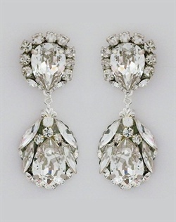 Cheryl King Rhinestone Drop Bridal Earrings