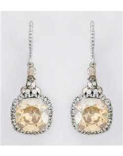 Haute Bride Golden Shadow Drop Earrings