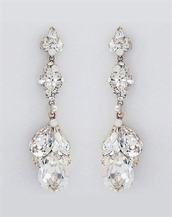 Erin Cole Dangling Triple Teardrop Earrings
