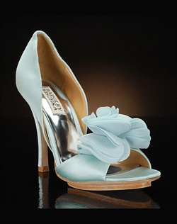 Peep toe D'orsay with fabric flower