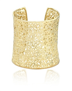 Golden Filigree Cuff Bracelet