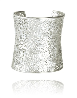 Silver Filigree Cuff Bracelet