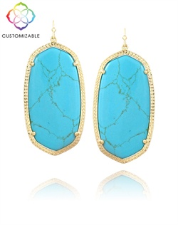 Classic Oval Statement Earrings