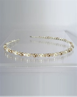 Swarovski Crystal and Pearl Headband.  Silver or Gold. Various colors available.