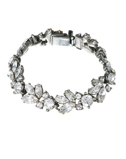 Bring a flourish of nature-inspired beauty to your wedding day jewelry with this gorgeous crystal bridal bracelet from designer Ben Amun.