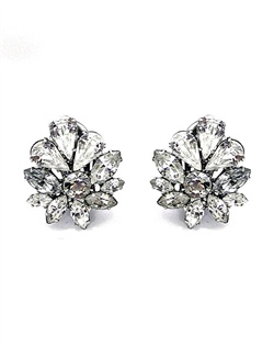 Swarovski crystal floral stud earrings
