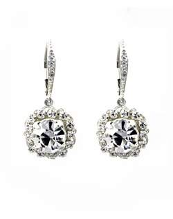 Rhinestone filigree short chandeliers with cz pave set Sterling silver lever backs.