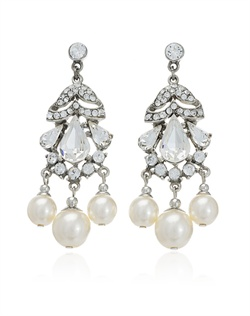 These elegant earrings from designer Ben Amun are all about timeless glamour. Large pear-shaped Swarovski crystals and shimmering create a striking focal point in this lovely, and decidedly feminine design. With their vintage-inspired look and serious sparkle, these delightful drop earrings are sure to turn heads.