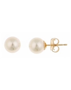 These freshwater cultured pearl studs from Thomas Laine Pearls are a classic must-have for every woman's jewelry collection. With their eye-catching iridescence, these pearls will bring a touch of easy elegance to any look. **Looking for a timeless and utterly wearable jewelry choice for your bridesmaid gifts?