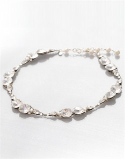 Swarovski crystals and fresh water pearl necklace