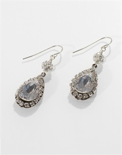 Swarovski crystal and fresh water pearl earrings