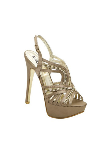 "The sparkling Colorful Creations Lauren dazzles as a high heel platform sandal featuring a strappy designed accented with 6 rows of rhinestone embellishments. Colorful Creations Lauren is also available in taupe. A terrific evening, party or pageant shoe choice! 4 1/4"" heel."