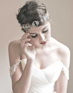 This headpiece is a statement making stunning headpiece. Beautiful Swarovski covered antiqued filigree can be worn as headband, necklace, or sash. Wear this for your wedding and then again for other occasions! Very versatile. Please select ribbon color of diamond white, ivory, or black.