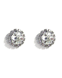 "Swarovski Stud Earrings 1/2"" W"