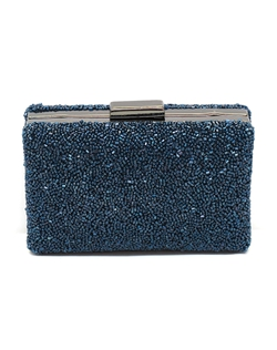 The perfect something blue that you can use again and again! The box clutch style is not only stylish but it keeps your precious belongings safe!