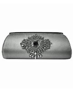 Featured in Brides magazine, this silk clutch features Swarovski crystal embellishments. Sparkling like a piece of jewelry, this clutch is a great addition accessory for your formal event!