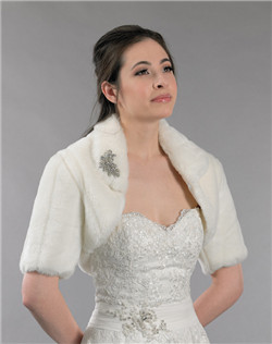 ivory faux fur bolero jacket