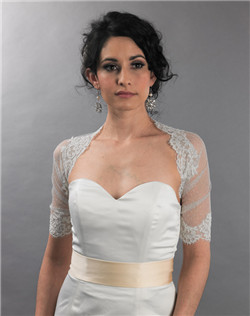 ivory dot lace wrap with alencon lace trim