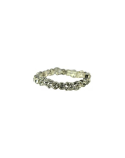 Add sparkle to your wrist with the comfortable stretch crystal bracelet. The crystals vary in size which add interest and dimension. One looks great or stack them for extra sparkle. Great for brides, bridesmaids and or guest. Bracelet measures 7 inches around. Flexible