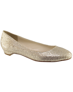 """Who says a flat can not be amazing. These gorgeous glittering flats offer all the comfort and style a bride desires. The 1/2"" heel gives a slight lift without height."""