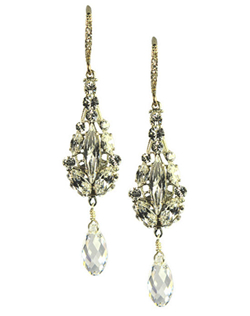 Feel like a star in these gorgeous Swarovski crystal chandelier earrings. This earring is made up of beautiful small teardrop Swarovski crystals finished with a larger dangling drop crystal.